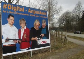 """Großflächenplakat """"Digital"""""""