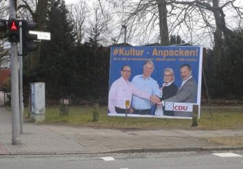 """Großflächenplakat """"Kultur"""""""