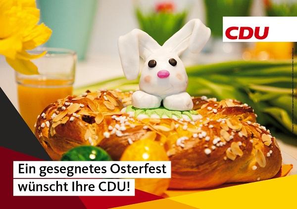 Ein gesegnetes Osterfest wüncht Ihre CDU!