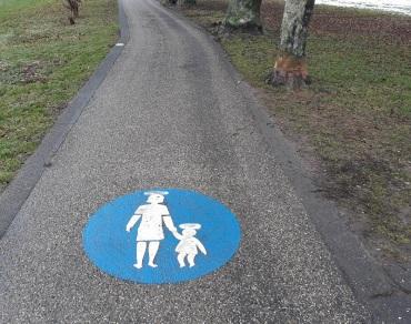 Rhein-Weg nur für Heilige