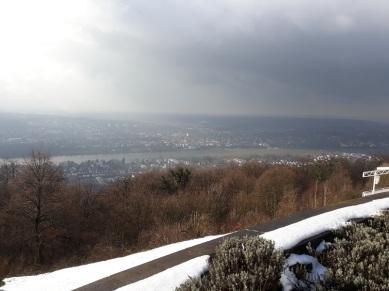 Blick vom Petersberg auf den Rhein, Königswinter und Bad Godesberg